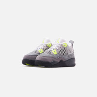 Nike Toddler Air Jordan 4 Retro LE - Cool Grey / Volt / Wolf Grey / Anthracite Thumbnail 2