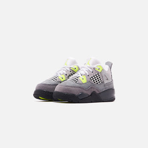 Nike Toddler Air Jordan 4 Retro LE - Cool Grey / Volt / Wolf Grey / Anthracite Image 2
