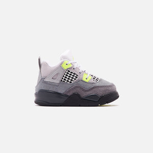 Nike Toddler Air Jordan 4 Retro LE - Cool Grey / Volt / Wolf Grey / Anthracite Image 1