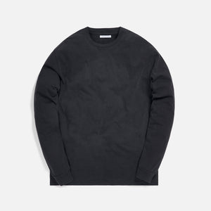 John Elliott University Long Sleeve Tee - Washed Black Image 1