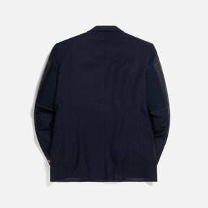 Junya Man x Brooks Brothers Customized Cowhide Blazer - Navy / Black