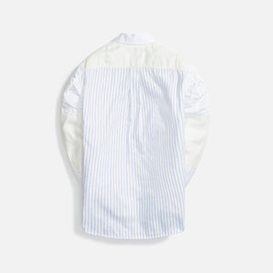 Junya Man Cotton Chambray Twill Cotton Stripe Linen - Herringbone