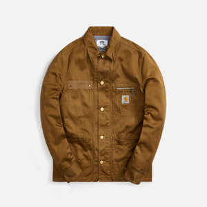 Junya Man Cotton Weapon Garment Dyed Carhartt Jacket - Deep Beige