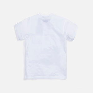 Junya Man Cotton Jersey Garment Playboy Print Tee - White