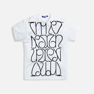 Junya Man Cotton Jersey Thonet Print Tee - White / Black
