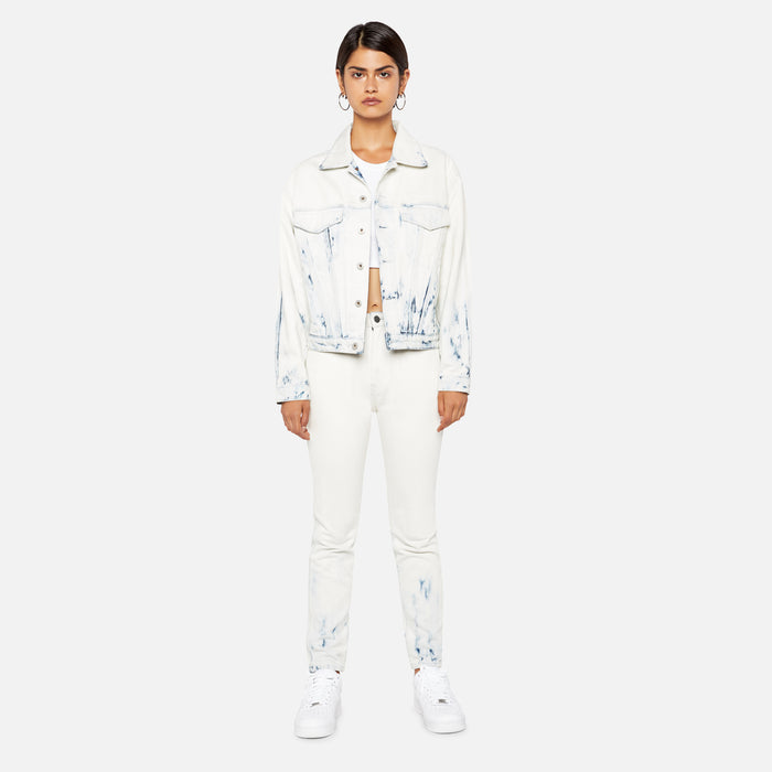 Jordache High Rise Slim Pant -  Rinse & Bleach