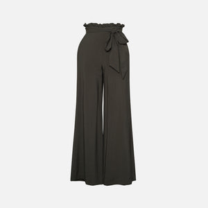 Jonathan Simkhai Kinzley Solid Paper Bag Maxi Pant - Army Green