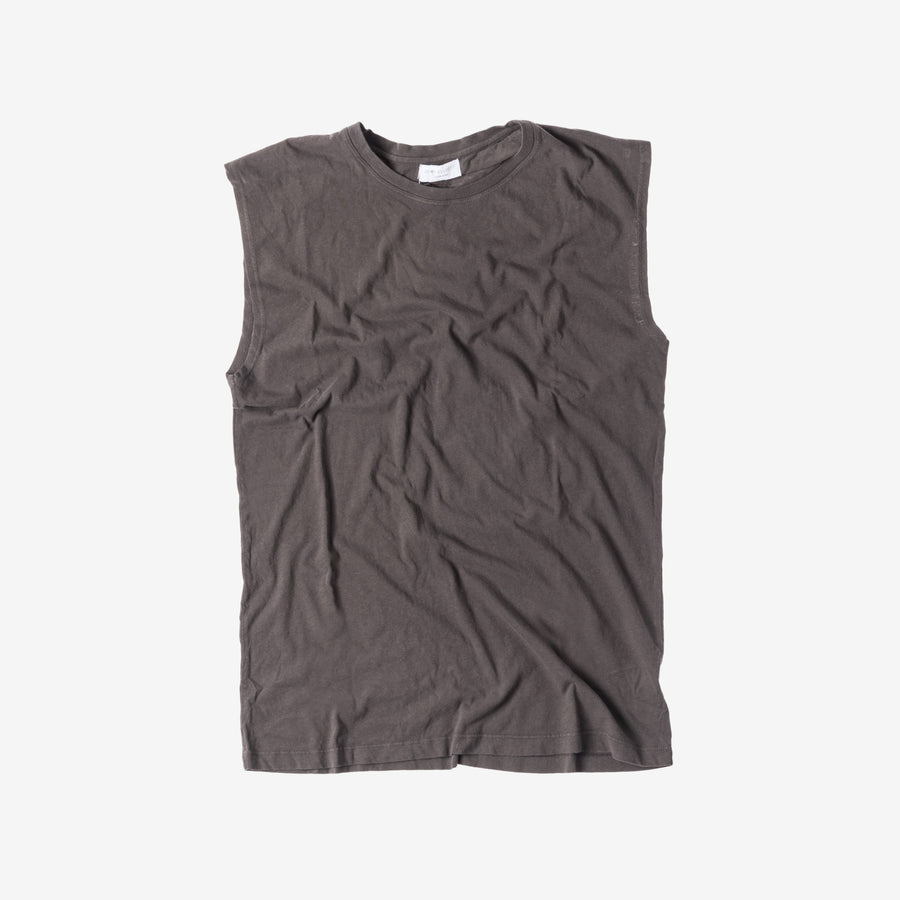 John Elliott Oversized Sleeveless Crew - Charcoal