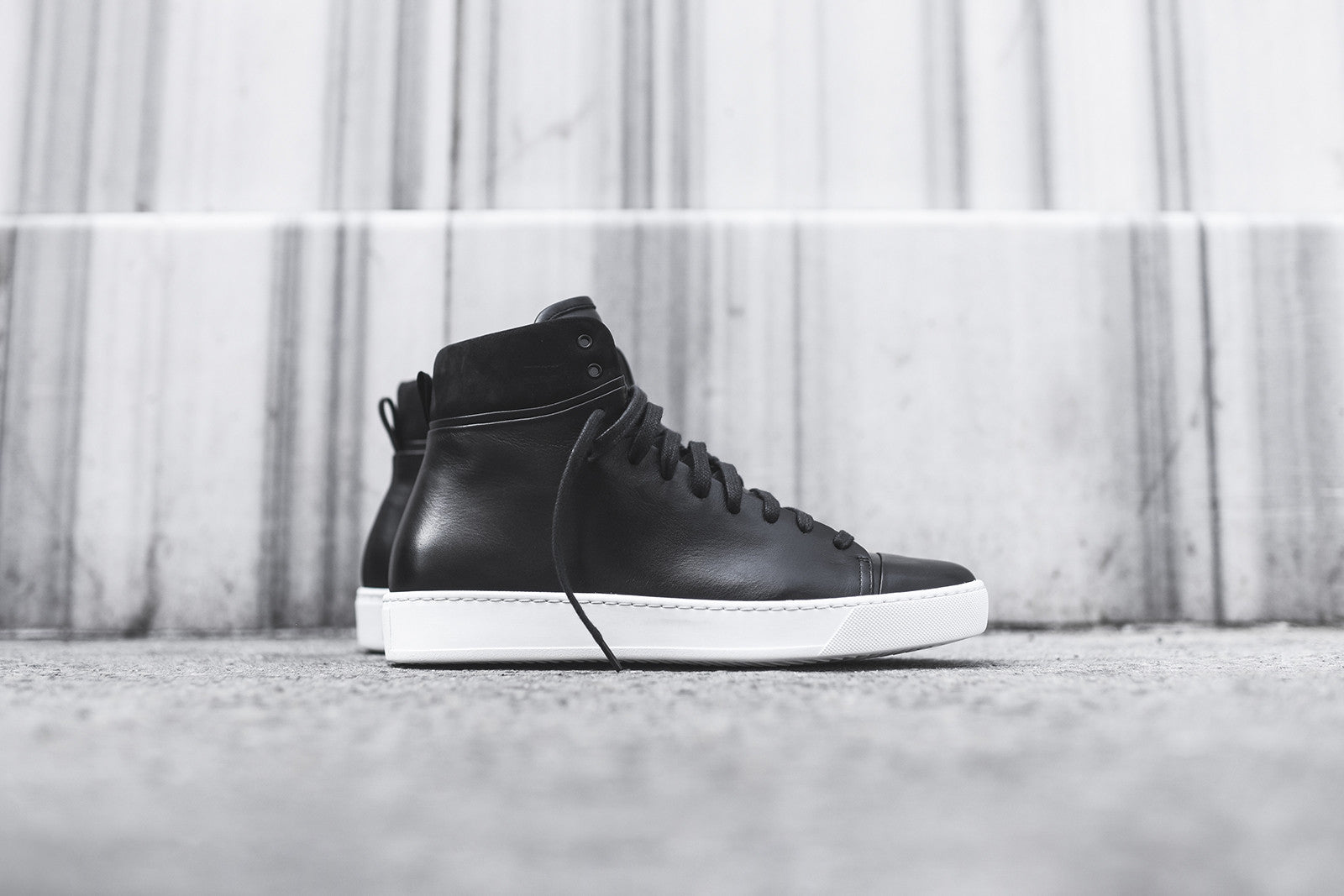 John Elliott High Top Sneaker - Black / White