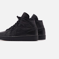 Nike WMNS Air Jordan 1 Mid - Black Thumbnail 1