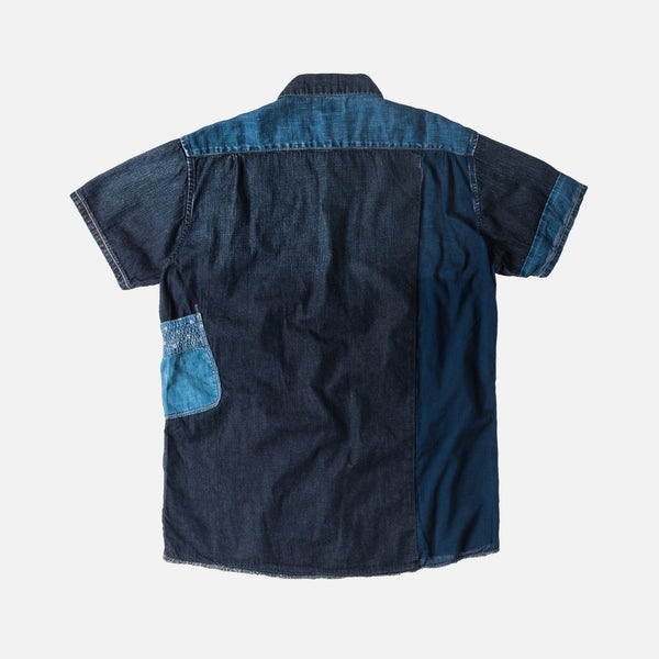 Kapital Patchwork Katmandu Button-Up - Indigo