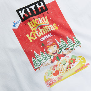 Kith for Lucky Charms Kithmas Cereal Box Vintage Tee - White