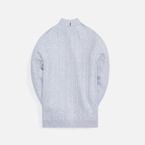Kith Tilden L/S Polo - Light Heather Grey