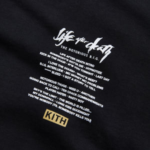 Kith for The Notorious B.I.G Life After Death Tee - Black