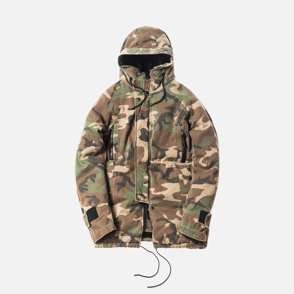 Kith x nonnative Trooper Boa Shearling Parka - Washed Camo