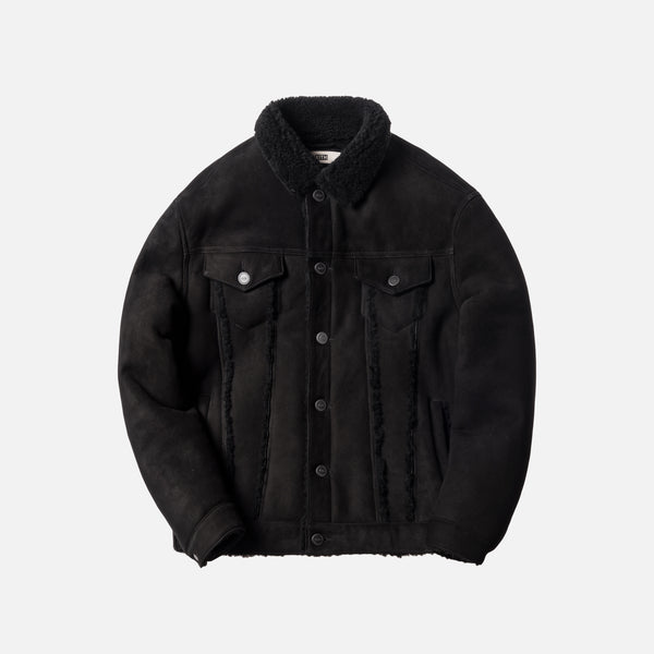 Kith Amherst Shearling Trucker Jacket - Black