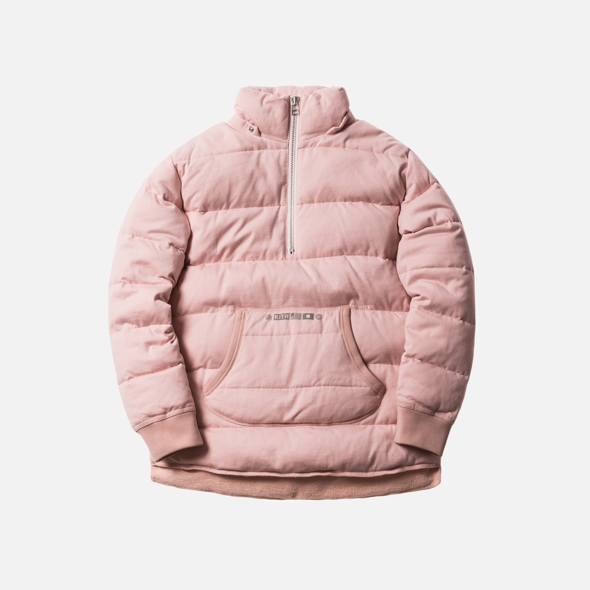 Kith Nakameguro Quarter-Zip Pullover - Heather Pink