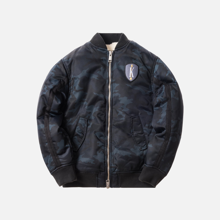 Kith Winfield Bomber Jacket - Blue / Woodland Camo