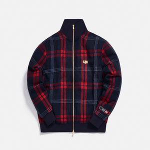 Kith for Bergdorf Goodman Lewis Track Jacket - Navy / Blue Plaid