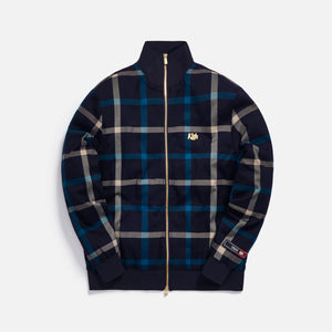 Kith for Bergdorf Goodman Roger Track Jacket - Navy / Blue Plaid