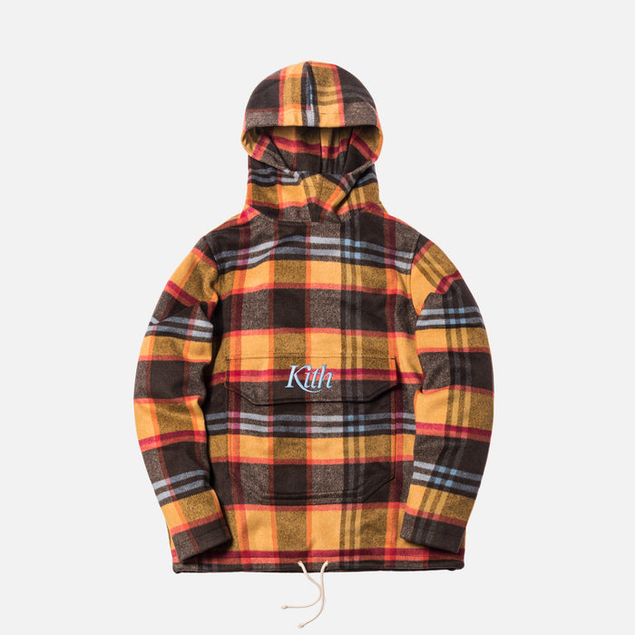 4aedc37eb9cd ... Kith Harrison Plaid Flannel Hooded Pullover - Brown   Yellow ...