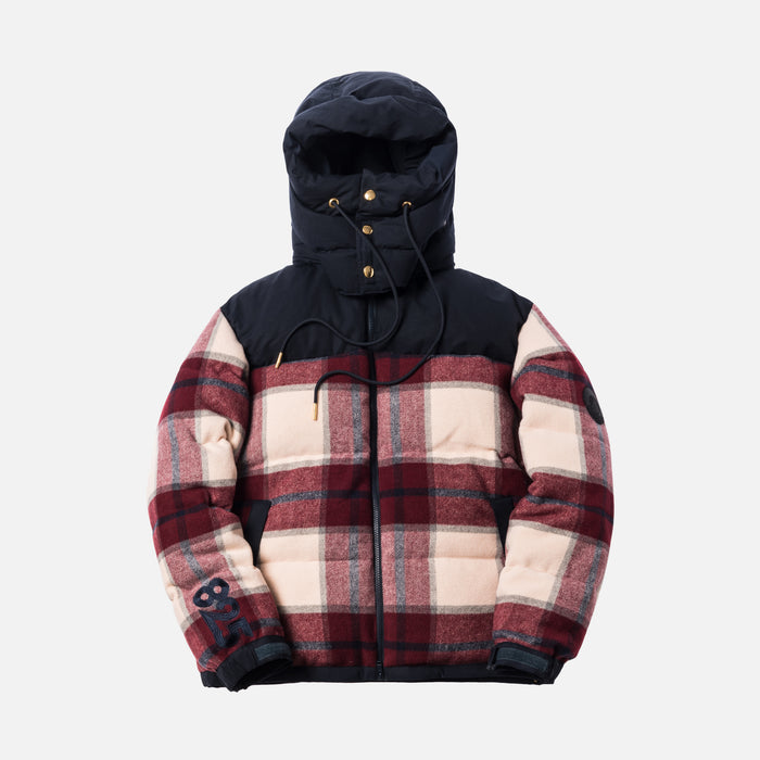 Kith 825 Summit Down Puffer - Burgundy Plaid