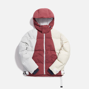 Kith Color-blocked Puffer Jacket - Brick