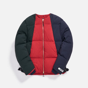 Kith Colorblocked Puffer Jacket - Scarlet / Multi