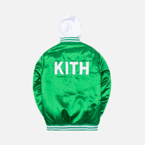 Kith x Sprite Satin Hooded Varsity Jacket - Green