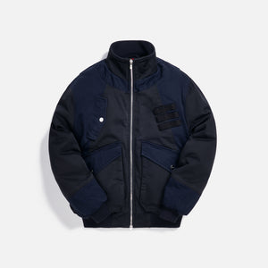 Kith Colorblocked Sateen Bomber - Navy Image 1