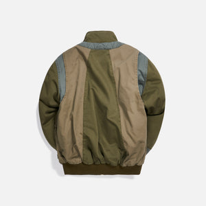 Kith Colorblocked Sateen Bomber - Olive Image 2