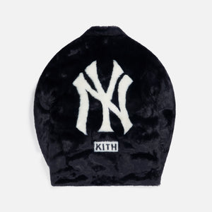 Kith for Major League Baseball New York Yankees Faux Fur Coaches Jacket - Navy