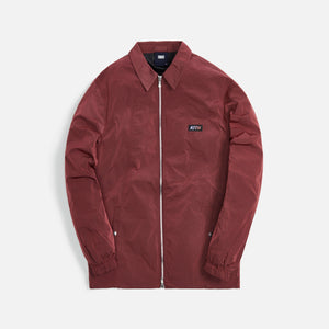 Kith Coaches Jacket Wrinkle Nylon - Roan Rouge