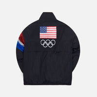Kith Retro Quarter Zip Track Jacket - Black Thumbnail 1