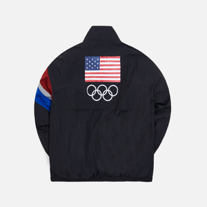 Kith Retro Quarter Zip Track Jacket - Black Image 2