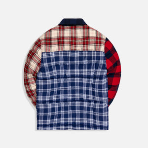 Kith Murray Quilted Shirt Jacket - Plaid Multi