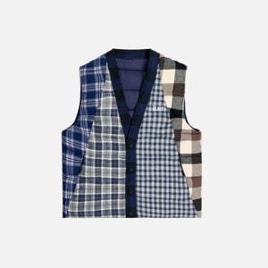 Kith Charlton Reversible Quilted Vest - Blue / Multi