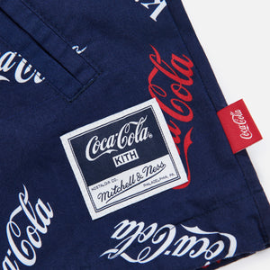 Kith x Coca-Cola x Mitchell & Ness Coke Coaches Jacket - Navy Image 3