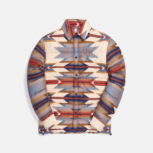 Kith for Pendleton Wyeth Trail Puffer Shirt Jacket - Tan / Multi Image 1