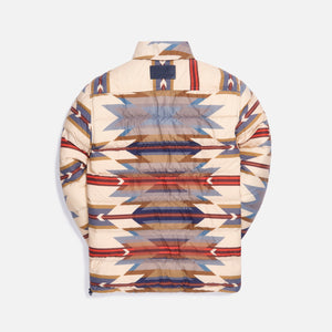 Kith for Pendleton Wyeth Trail Puffer Shirt Jacket - Tan / Multi Image 4