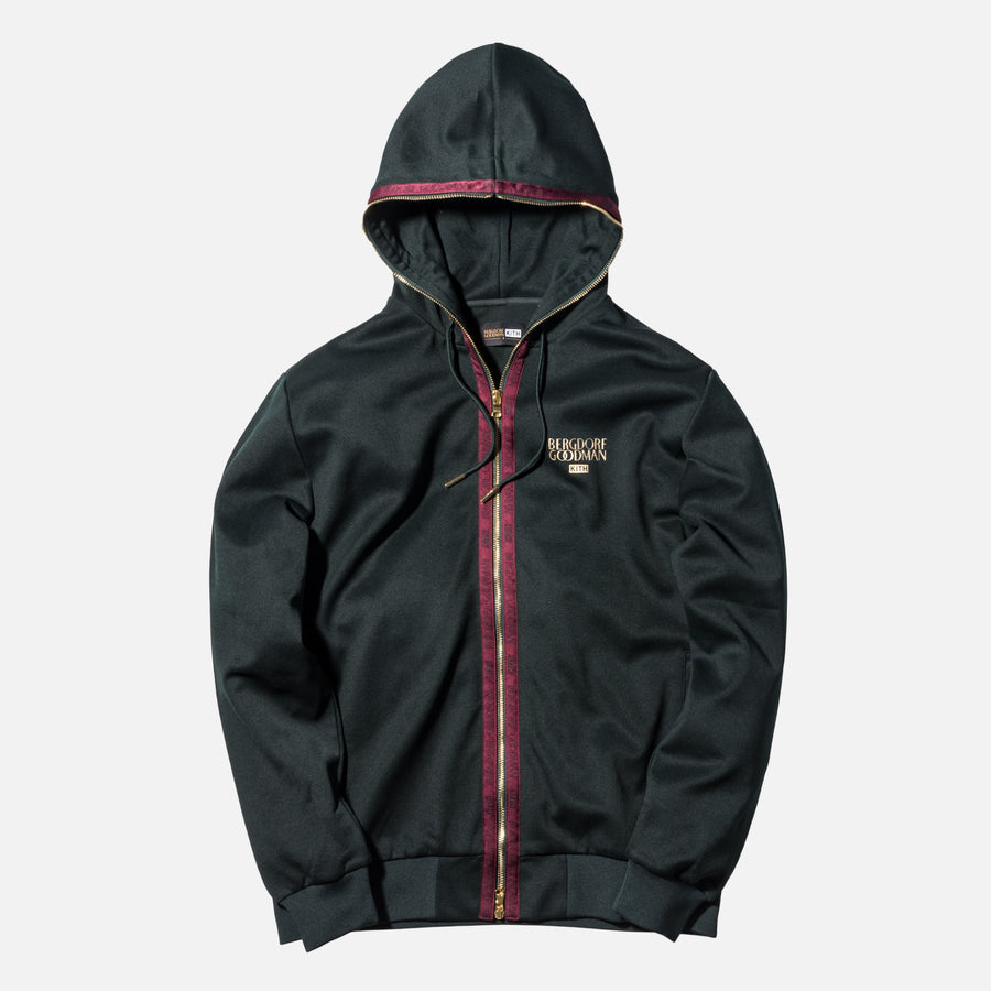 Kith x Bergdorf Goodman Full Zip Hoodie - Forest Green