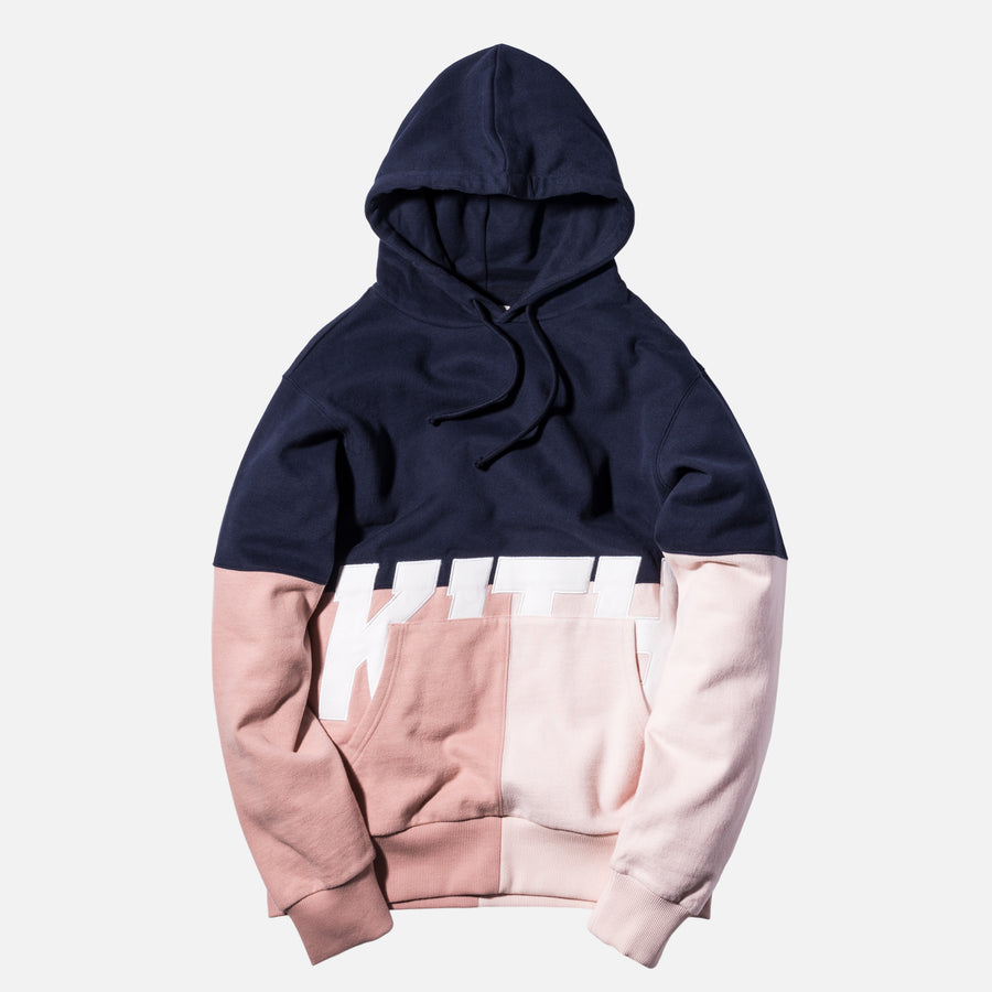 Kith Paneled Williams Hoodie - Navy
