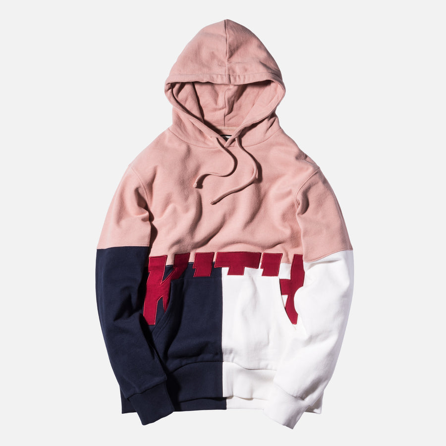 Kith Paneled Williams Hoodie - Ash Pink