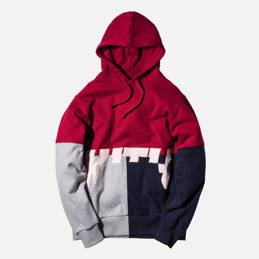 Kith Paneled Williams Hoodie - Red