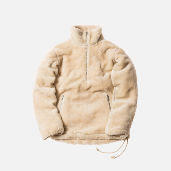 Kith x nonnative Sherpa Quarter-Zip - Natural