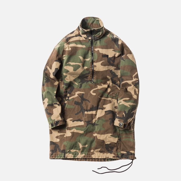 Kith x nonnative Explorer Quarter-Zip Shirt - Washed Camo