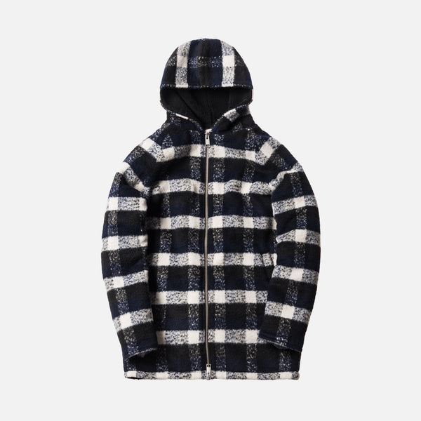 Kith Moore Fleece Lined Parka - Navy / White