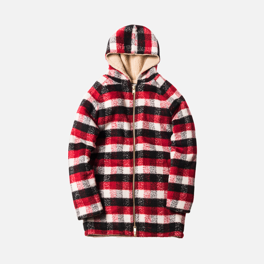 Kith Moore Fleece Lined Parka - Red / White / Black