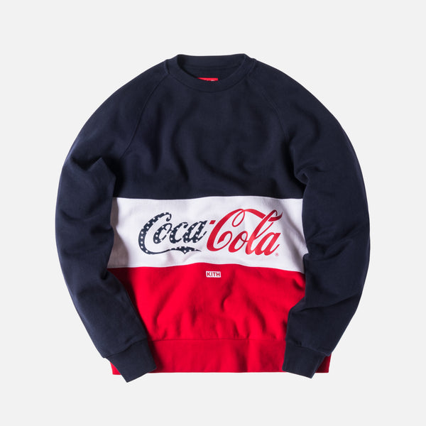 Kith x Coca-Cola Paneled Crewneck - Red / White / Navy