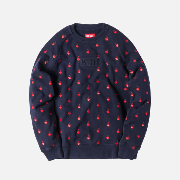 Kith x Coca-Cola Cherries Crewneck - Navy